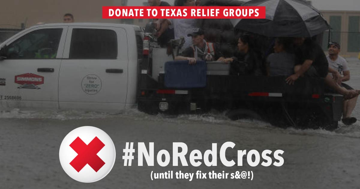Noredcross On The Ground People Powered Alternatives For Texas Flood